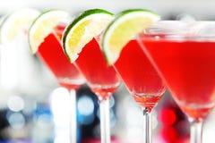 Coleção dos cocktail - cosmopolita Imagens de Stock Royalty Free