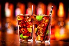Coleção dos cocktail - Cuba Libre Imagens de Stock