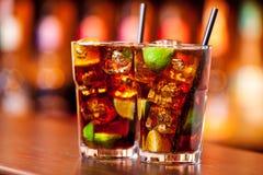 Coleção dos cocktail - Cuba Libre Foto de Stock Royalty Free