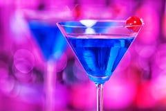 Coleção dos cocktail - Martini azul fotografia de stock royalty free
