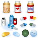 Coleção dos comprimidos Imagens de Stock Royalty Free
