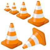 Coleção dos cones do tráfego Fotos de Stock