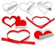 Coleção dos corações Imagem de Stock