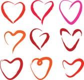 Coleção dos corações foto de stock
