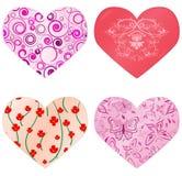 Coleção dos corações Imagens de Stock