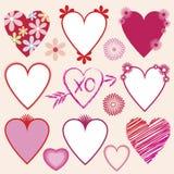 Coleção dos corações do Valentim Imagem de Stock