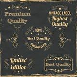 Coleção dos crachás do vintage Foto de Stock
