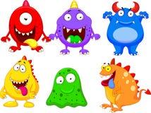 Coleção dos desenhos animados do monstro Fotos de Stock