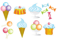 Coleção dos doces Imagem de Stock