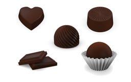 Coleção dos doces do chocolate Fotografia de Stock Royalty Free