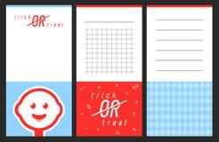 Coleção dos doces que gira cartões Imagens de Stock