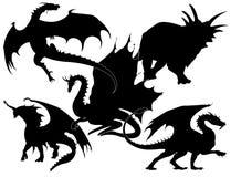 Coleção dos dragões -   Imagens de Stock