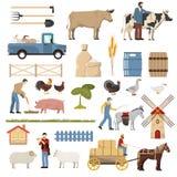 Coleção dos elementos da fazenda de criação Fotografia de Stock Royalty Free