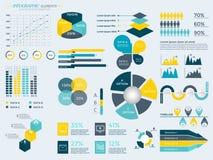 Coleção dos elementos de Infographic Foto de Stock Royalty Free