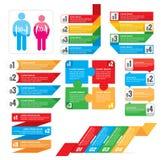 Coleção dos elementos de Infographic Fotos de Stock Royalty Free