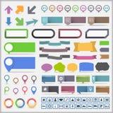 Coleção dos elementos de Infographics ilustração royalty free