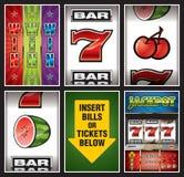 Coleção dos elementos do casino Fotos de Stock