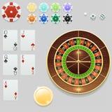 Coleção dos elementos do casino Imagens de Stock Royalty Free