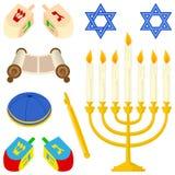 Coleção dos elementos do judaísmo Fotos de Stock
