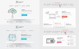 Coleção dos elementos do molde do Web site: Imagens de Stock