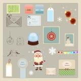 Coleção dos elementos do Natal Fotografia de Stock Royalty Free