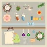Coleção dos elementos do Natal Fotos de Stock