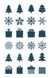 Coleção dos elementos do vetor da estação do Natal Fotografia de Stock Royalty Free