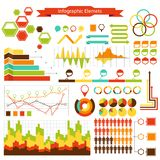 Coleção dos elementos do vetor dos gráficos da informação Fotografia de Stock