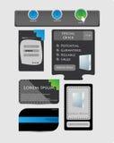 Coleção dos elementos do Web ilustração royalty free