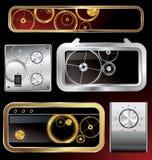 Coleção dos elementos do Web com engrenagens Imagem de Stock Royalty Free
