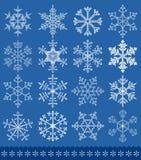 Coleção dos flocos de neve Fotos de Stock Royalty Free
