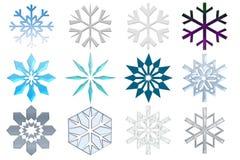 Coleção dos flocos de neve ilustração do vetor