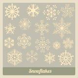 Coleção dos flocos de neve Foto de Stock
