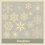 Coleção dos flocos de neve Fotografia de Stock