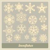 Coleção dos flocos de neve Foto de Stock Royalty Free