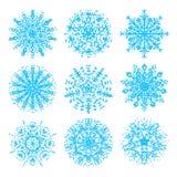Coleção dos flocos de neve Imagens de Stock Royalty Free
