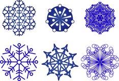 Coleção dos flocos de neve Imagens de Stock