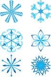 Coleção dos flocos de neve Fotos de Stock