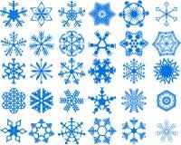 Coleção dos flocos de neve Fotografia de Stock Royalty Free