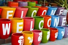 Coleção dos flowerpots fotos de stock royalty free