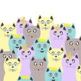 Coleção dos gatos fotos de stock royalty free