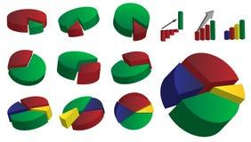 Coleção dos gráficos Imagens de Stock Royalty Free