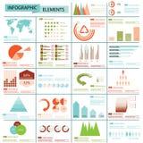Coleção dos gráficos da informação Fotos de Stock Royalty Free