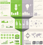 Coleção dos gráficos da informação da ecologia, Imagem de Stock