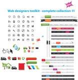 Coleção dos gráficos do Web Imagem de Stock Royalty Free