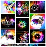 Coleção dos insectos de Discoteque - jogo 7 Fotografia de Stock