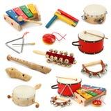 Coleção dos instrumentos musicais fotos de stock