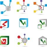 Coleção dos logotipos Fotos de Stock Royalty Free