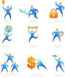 Coleção dos logotipos abstratos dos povos - 10 Imagens de Stock