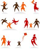 Coleção dos logotipos abstratos dos povos - 2 Fotos de Stock Royalty Free